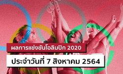 สรุปผลการแข่งขันกีฬาโอลิมปิก 2020 ประจำวันที่ 7 สิงหาคม 2564