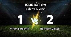 ผลบอล : Virum Sorgenfri vs Norrebro United (เดนมาร์ก-คัพ 2021-2022)