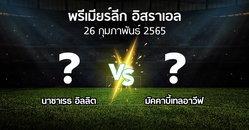 โปรแกรมบอล : นาซาเรธ อิลลิต vs มัคคาบี้เทลอาวีฟ (พรีเมียร์ลีก-อิสราเอล 2021-2022)