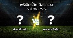 โปรแกรมบอล : มัคคาบี้ ไฮฟา vs นาซาเรธ อิลลิต (พรีเมียร์ลีก-อิสราเอล 2021-2022)