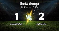 ผลบอล : ฮัดเดอร์สฟิลด์ vs เอฟเวอร์ตัน (ลีกคัพ 2021-2022)