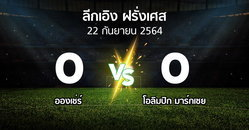 ผลบอล : อองเช่ร์ vs มาร์กเซย (ลีกเอิง 2021-2022)
