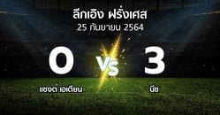 ผลบอล : แซงต์ เอเตียน vs นีซ (ลีกเอิง 2021-2022)