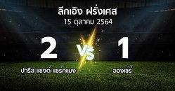 ผลบอล : เปแอสเช vs อองเช่ร์ (ลีกเอิง 2021-2022)