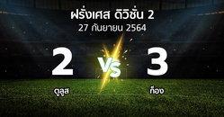 ผลบอล : ตูลูส vs ก็อง (ฝรั่งเศส-ดิวิชั่น-2 2021-2022)