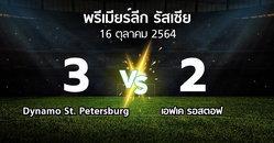 ผลบอล : Dynamo St. Petersburg vs เอฟเค รอสตอฟ (พรีเมียร์ลีก รัสเซีย  2021-2022)