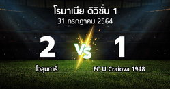 ผลบอล : โวลุนทารี่ vs FC U Craiova 1948 (โรมาเนีย-ดิวิชั่น-1 2021-2022)