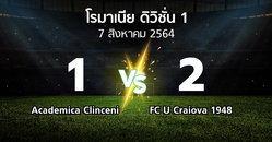 ผลบอล : Academica Clinceni vs FC U Craiova 1948 (โรมาเนีย-ดิวิชั่น-1 2021-2022)