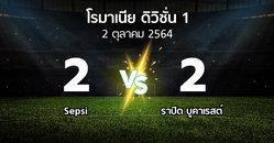 ผลบอล : Sepsi vs ราปิด บูคาเรสต์ (โรมาเนีย-ดิวิชั่น-1 2021-2022)