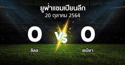 ผลบอล : ลีลล์ vs เซบีย่า (ยูฟ่า แชมเปียนส์ลีก 2021-2022)