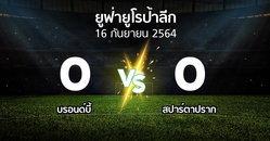 ผลบอล : บรอนด์บี้ vs สปาร์ตาปราก (ยูฟ่า ยูโรป้าลีก 2021-2022)
