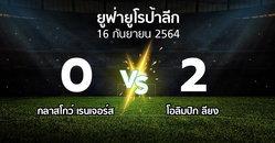 ผลบอล : กลาสโกว์ เรนเจอร์ส vs ลียง (ยูฟ่า ยูโรป้าลีก 2021-2022)