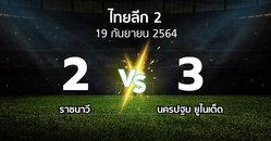 ผลบอล : ราชนาวี vs นครปฐม ยูไนเต็ด (ไทยลีก 2 2021-2022)
