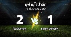 ผลบอล : โอลิมเปียกอส vs รอแยล อันท์เวิร์พ (ยูฟ่า ยูโรป้าลีก 2021-2022)