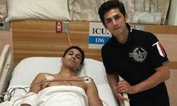 """แฟนคลับโล่งอก""""อองตวน""""ยิ้มออกพักโรงพยาบาล1คืน หลังถูกเตะท้ายทอยศึกไทยไฟต์"""