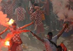 แฟนบอลโครเอเชียปะทะกับตำรวจโปแลนด์