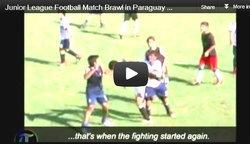 ฟุตบอล : กังฟูเด็ก! แมตช์เยาวชนปารากวัย ปะทะวุ่น แดงว่อนกว่า 30 ใบ (ชมคลิป)