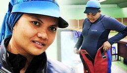สาวมาเลย์ท้อง8ด.ลุยโอลิมปิก