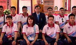 """เสื้อกล้ามไทยไหว้พระขอพรก่อนลุยซีเกมส์ ขอ""""6ทอง"""""""