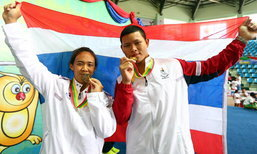 ประมวลภาพทัพนักกีฬาไทยคว้าเหรียญทองซีเกมส์ครั้งที่27