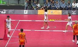 สาวไทยไม่ไว้หน้าเจ้าภาพ! ไล่ตบกระจุย คว้าทองตะกร้อทีมเดี่ยว ซีเกมส์อีกสมัย