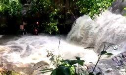 คลิปนาทีช็อก! นักมวยค่ายดังเที่ยวน้ำตก โดนน้ำป่าซัดจมดับต่อหน้าเพื่อน