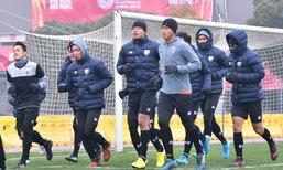 ช้างศึก U23 ซ้อมฝ่าลมหนาว 2 องศา, โซรันหวังทีมสู้สภาพอากาศได้