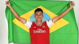 "OFFICIAL! อาร์เซนอล เปิดตัว  ""มาร์ติเนลลี"" กองหน้าดาวรุ่งชาว บราซิล วัย 18 ปี"