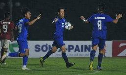 """ยิงแซงรวดเดียว! """"ช้างศึก U19"""" เฉือน """"อินโดนีเซีย"""" 3-2 ชิงแชมป์อาเซียน"""