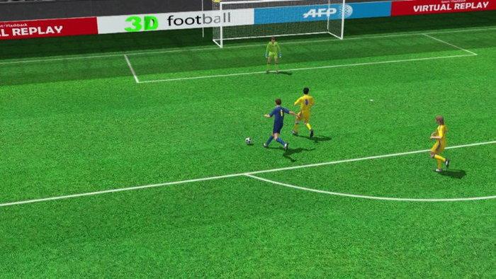 คลิปไฮไลท์ยูโร2012 3D ฝรั่งเศส นำ ยูเครน 2-0