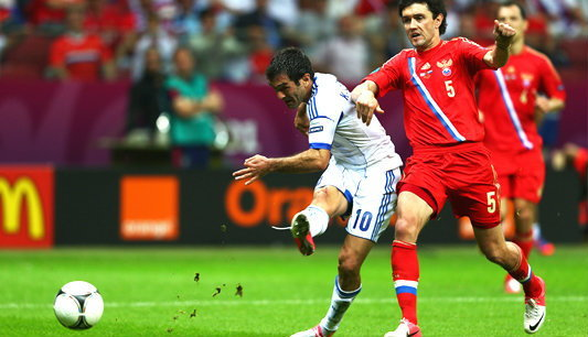 กรีซ พลิกคว่ำหมีขาว 1-0คารากูนิสฮีโร่ซัดนำชัย