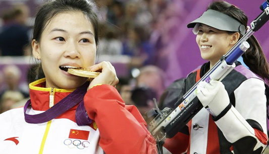 สาวจีนคว้าทองแรกอลป.ปืนยาวอัดลม10ม.หญิง