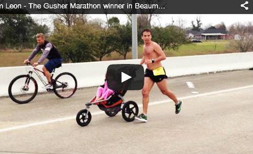 คารวะ! หนุ่มใหญ่ป่วยมะเร็งสมองชนะวิ่งมาราธอน ทั้งที่ผลักรถเข็นลูกสาวตลอดทาง