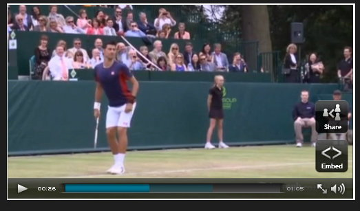 คลิป อย่างฮา! โนวัค รวมหัว ดิมิตรอฟ แซวชาราโปว่า กลางสนามเทนนิส