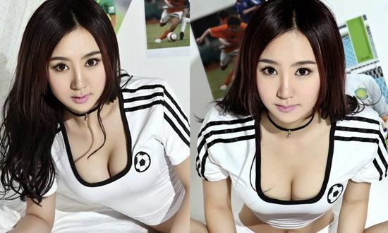 หมวยน่ารักอวบอึ๋มชอบฟุตบอล
