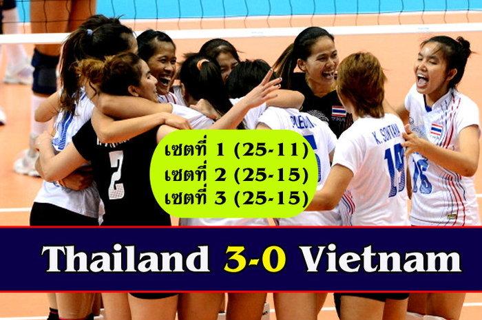 ไทยตบเวียดนาม3-0 ทะลุรอบก่อนรองฯ ฉะไต้หวัน +คลิป