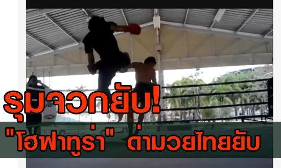 """แฟนกีฬาสุดทน """"โฮฟาทูร่า"""" จัดหนักด่ามวยไทยยับ"""
