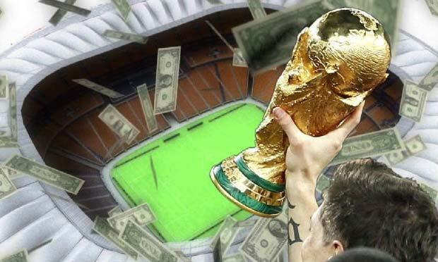 """มหกรรม""""ฟุตบอลโลก"""" ฟีฟ่ารับเละ เหนาะๆ1แสนล้านบาท ฝ่ายเจ้าภาพหนี้บานเบอะ"""