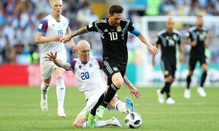 """""""เมสซี่"""" บอดโทษ! อาร์เจนติน่า เจาะไม่เข้าเจ๊า ไอซ์แลนด์ 1-1"""