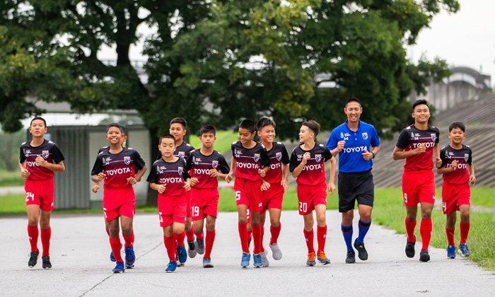 """สู้เต็มที่! """"ทีมชาติไทย ยู-12"""" พร้อมป้องกันแชมป์ ศึกโตโยต้า อินเตอร์ฯ"""