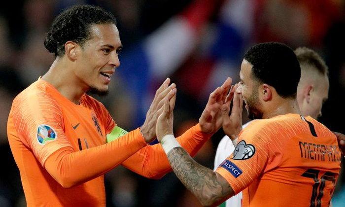 เนเธอร์แลนด์ ถล่ม เบลารุส 4-0 ประเดิมชัยคัดยูโร 2020