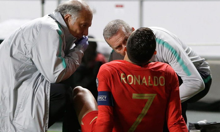 """ยูเวนตุส ยัน """"โรนัลโด้"""" เจ็บต้นขาจากเกมคัดยูโรฯ จริง"""
