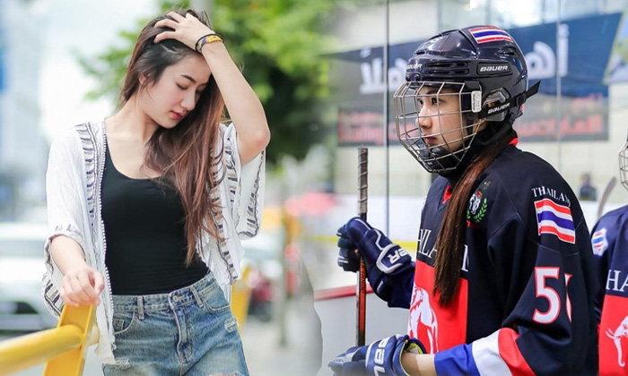 """ออร่ากระจาย! """"น้องน้ำตาล"""" นักฮอกกี้น้ำแข็งทีมชาติไทยดีกรีแชมป์เอเชีย (อัลบั้ม)"""