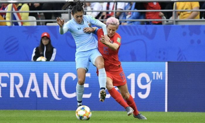 แข้งสาวไทยไร้ทางต้าน! พ่าย สหรัฐอเมริกา 0-13 ประเดิมศึกฟุตบอลโลก 2019 (คลิป)