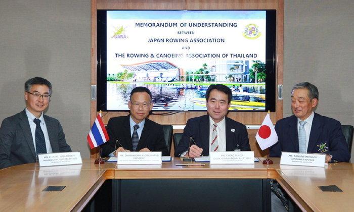 """""""สมาคมเรือพายไทย"""" จับมือ """"สมาคมเรือพายญี่ปุ่น"""" สร้างความแข็งแกร่งลุยศึก Asian Rowing Masters Regatta"""