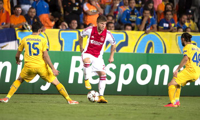 อาแจ็กซ์ บุกเจ๊า อโปเอล 0-0 เพลย์ออฟ ยูฟ่าชปล.เกมแรก