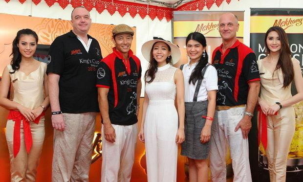 """Mekhong""จัดศึก โปโลช้าง ""2014 King's Cup Elephant Polo"""