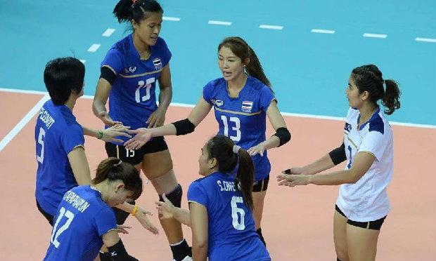 ลูกยางสาวไทย ถล่ม อินเดีย 3-0 เซต ลิ่ว 8 ทีม