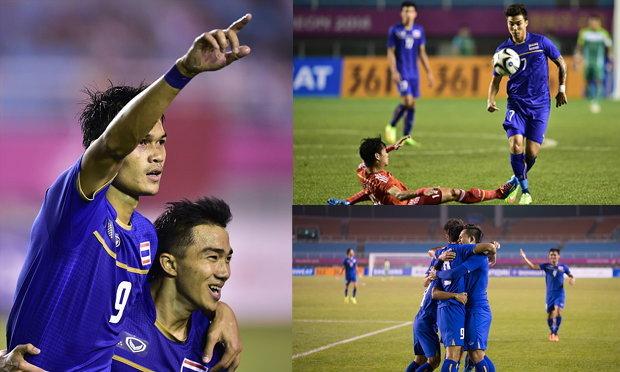 ชมภาพเด็ดดวง บอลไทยอัดจีน 2-0