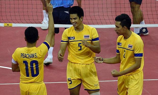 ประมวลภาพ ทีมตะกร้อชายไทยคว้าเหรียญทอง
